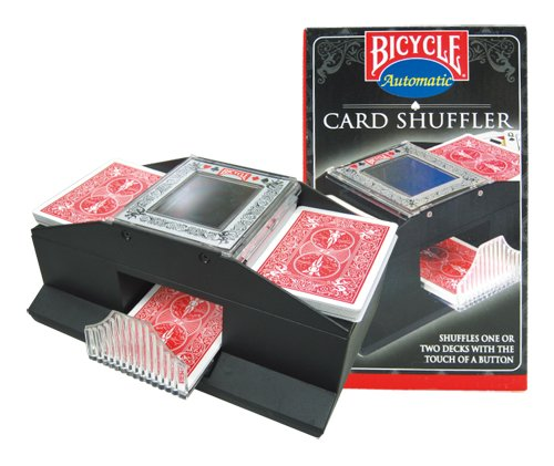 - Bicycle Automatic Card Shuffler Shuffles 1 Or 2 decks with the Touch of a Button. (Cards Not Included)