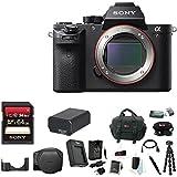 Sony Alpha a7RII Mirrorless Digital Camera (Body) w/ 64GB SD Card & Sony Soft Carrying Case for a7II Bundle