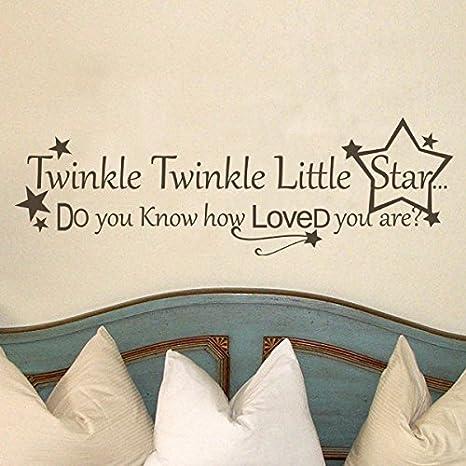 Twinkle Twinkle Little Star Vinyl Wall Decal Sticker Bedroom Nursery