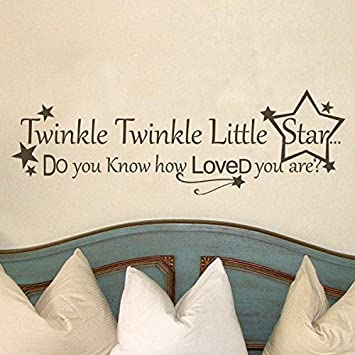 Twinkle Twinkle Little Star Vinyl Wall Decal Nursery Wall Quote Wall  Sticker Stars Wall Graphic Wall Part 41