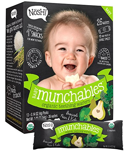 - Nosh Baby Munchables Broccoli, Pear and Kale, Broccoli, 1.9 Ounce