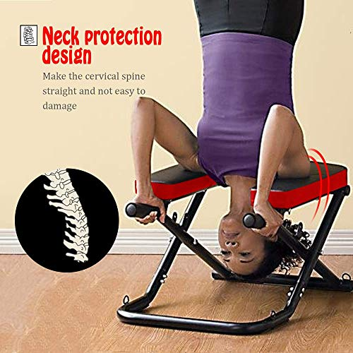 Apelila Yoga Bench Head Stand – Stand Yoga Headstander for House, Gym Build Up Body Ideal Chair for Shoulderstand, Practice Head Stand, Headstand Bench,Inversion Equipment