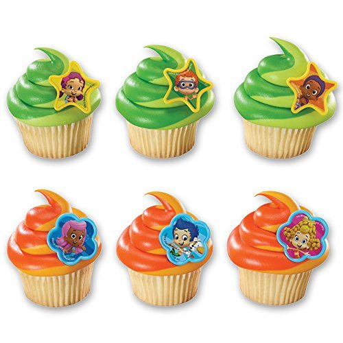 DecoPac Bubble Guppies Molly, Gil and Gang Cupcake Rings (12 Count) by DecoPac
