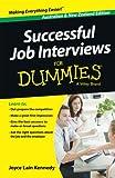 img - for Successful Job Interviews For Dummies - Australia / NZ book / textbook / text book