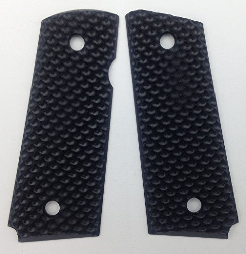 """1911 Slim G10 Grips, Compact/Officer, 3/16"""" Thin, Golf Ball Dimple Texture, Cool Hand Brand"""