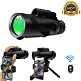 Monocular Telescope 12x50, High Power Monoculars BAK4 Prism FMC Night Vision Monocular Compact