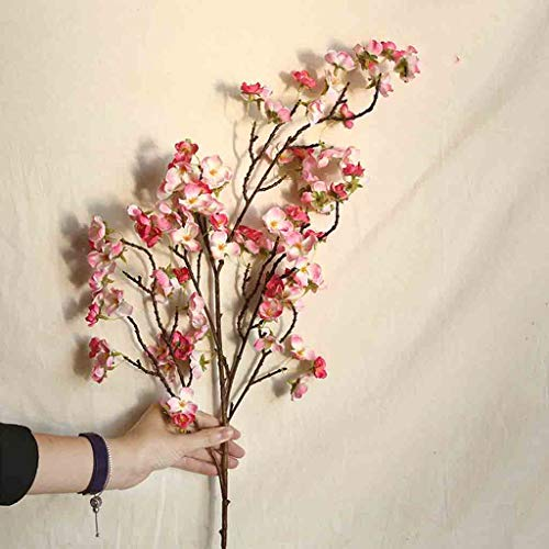 Gotian Artificial Cherry Peach Blossom Fake Silk Flower Handmade Multicolor for Indoor Outdoor Home Office Festive Furnishing Home Wedding Party Floral Decoration (C)