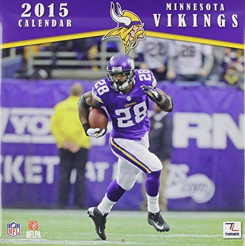 Turner Perfect Timing 2015 Minnesota Vikings Team Wall Calendar, 12 x 12 Inches (8011703)