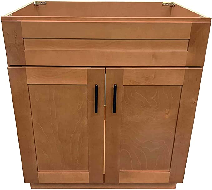 Amazon Com New Maple Shaker Single Bathroom Vanity Base Cabinet 30 W X 21 D X 34 5 H Kitchen Dining