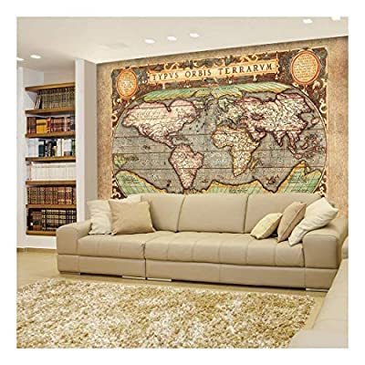 Ancient Antique Illustrated Map Latin Lettering Full Color Wall Mural, With a Professional Touch, Amazing Expertise