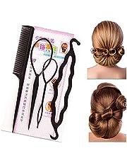 4 stks/set Professionele Haar Styling Tool Haar Vlechten Accessoires Paardenstaart Maker Haarbroodje Makers Kit voor alle haartypes