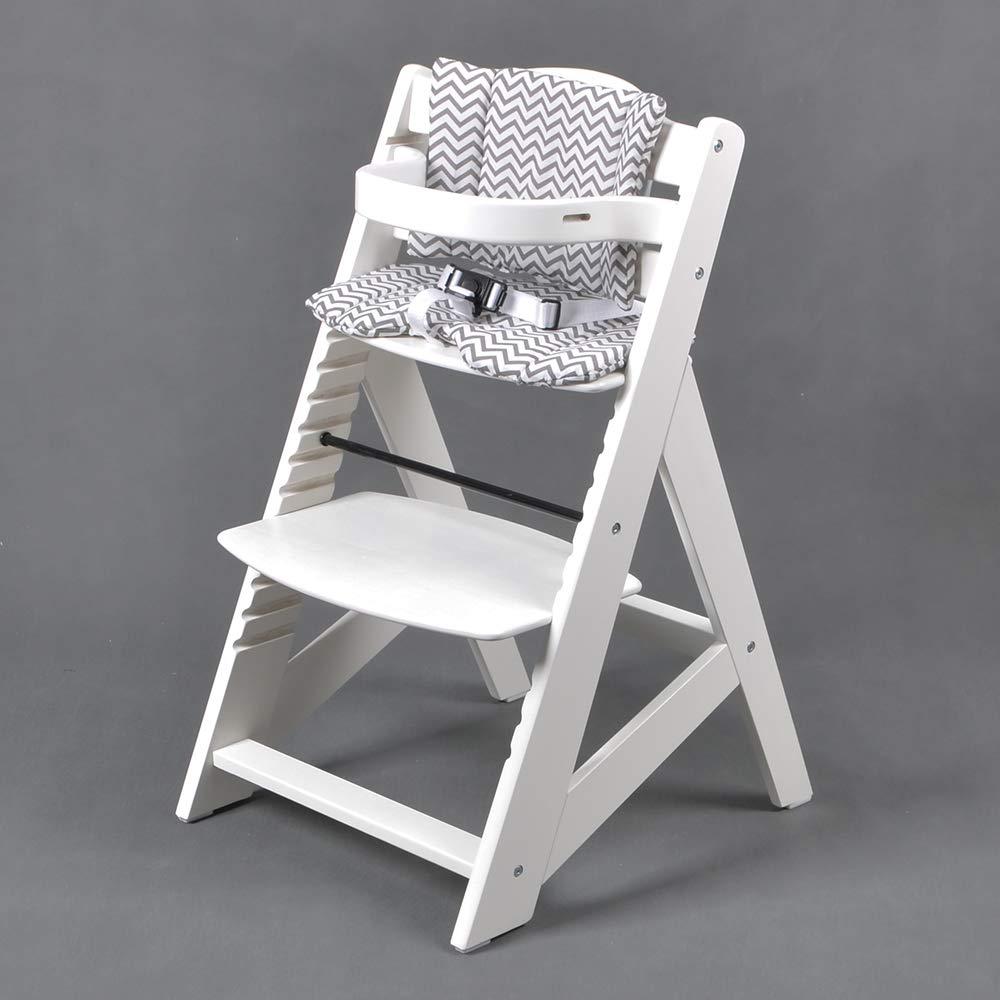 TIGGO Treppenhochstuhl Babyhochstuhl Kinderhochstuhl Kindertreppenhochstuhl Babystuhl Hochstuhl HC6551-WEISS