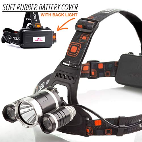 Waterproof Rechargeable LED Headlamp - Headlamp Flashlight great for Walking, Running, Camping and Outdoor Sports