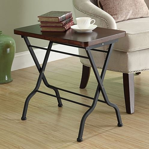 Durable Monarch Specialties Metal Folding Accent Table in