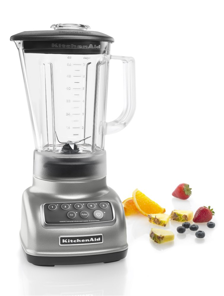 Amazon.com: KitchenAid KSB1570SL 5 Speed Blender With 56 Ounce BPA Free  Pitcher   Silver: Electric Countertop Blenders: Kitchen U0026 Dining