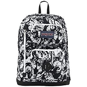 JanSport Mens Classic Mainstream Austin Backpack - Black Paintball / 17.7H X 12.8W X 5.5D