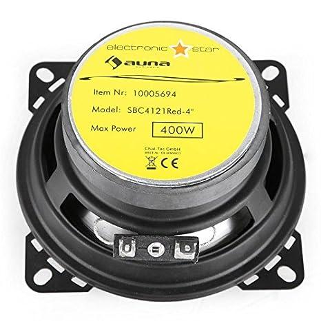 auna SBC-4121 /• Haut-parleurs coaxiaux 3 Voies /• Paire de Haut-parleurs int/égr/ée /• 800 W Max Puissance /• Tweeter au n/éodyme /• Bobine ASV /• Charge SPL 89dB /• Fr/équence 100 Hz /à 20 kHz /&