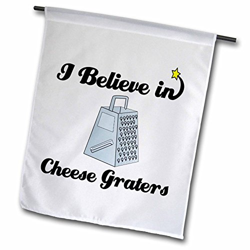 3dRose fl_105007_1 I Believe in Cheese Graters Garden Flag, 12 by 18-Inch