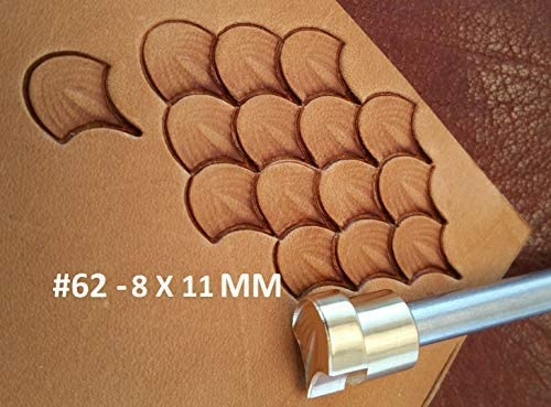 Leather Stamp Tool Working Carving Punches Tools Craft Saddle Brass #184M
