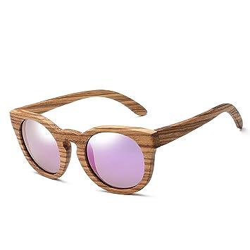 Gafas de Sol polarizadas de Madera recubierta Ovalada Gafas ...