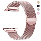 yamen Compatible for Apple Watch Band 42mm 44mm Women Milanese Loop for iwatch Band Series 2 Series 3 Series 4 Rose Gold