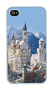 iPhone 4 Case,iPhone 4S Case,VUTTOO Stylish Landscapes Neuschwanstein Castle Hard Case For Apple iPhone 4/4S - PC White