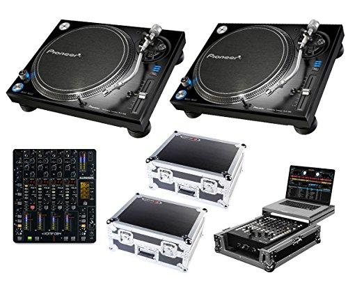 2x Pioneer PLX-1000 + Xone:DB4 + Odyssey Cases + Glide Style Case (Best Cartridge For Pioneer Plx 1000)
