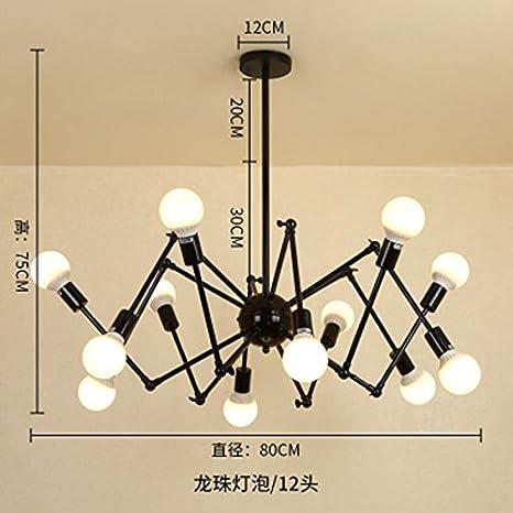 LighSCH Lámparas colgante De Araña Vintage Retro Spider es Nordic Industrias Creativas Plancha para la ropa