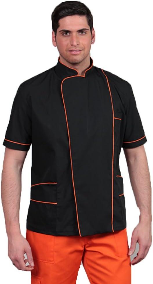 uniforme de peluquero para hombres de color negro y naranja anti estático
