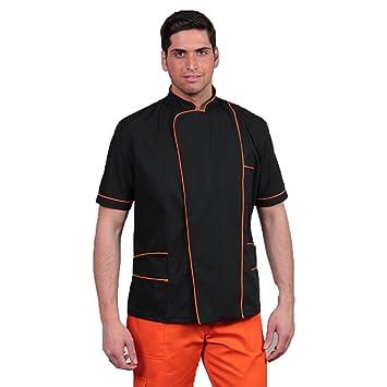 Camice Chaqueta para hombre, diseño de barbero peluquería coiffeur Cosmetics trabajo cabello naranja XL: Amazon.es: Hogar