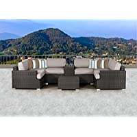SunHaven SUN-3010 Arlo 8 Piece Sectional Set in