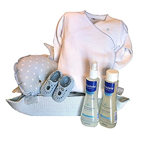 Set de regalo recién nacido - Cuki ballena azul - cesta regalo ...