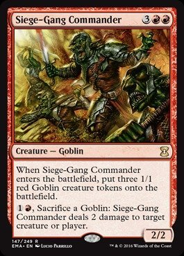 Magic: the Gathering - Siege-Gang Commander (147/249) - Eternal Masters - Foil