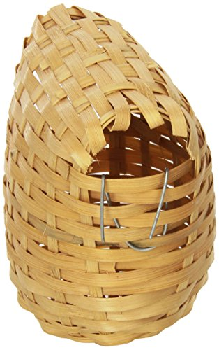 Prevue-Pet-Products-BPV1155-Bamboo-Covered-Breeding-Nest-Hut-for-Birds-Large