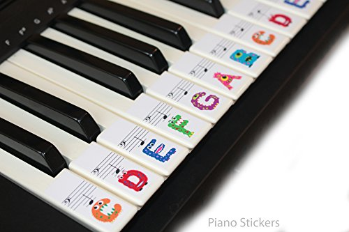 Keyboard-or-Piano-Stickers-61-key-set-For-Kids-learn-to-play-THE-FUN-WAY-PSMW61