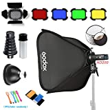 Godox AD200 200Ws 2.4G TTL Pocket Flash Speedlite Strobe 1/8000 HSS Monolight with 2900mAh Lithium Battery /24''x24'' softbox & S-Type holder/ 32'' 5-in-1 Reflector/BD-07 Barn Door kit /AD-S2/AD-S9