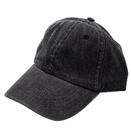 (ニューハッタン)NEWHATTAN ニューハッタン キャップ メンズ 帽子 ゴルフ デニム ブラック ブルー ys-nh-h1155
