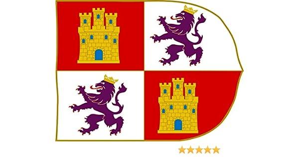 magFlags Bandera Large Estandarte de la Corona de Castilla   Bandera Paisaje   1.35m²   100x130cm: Amazon.es: Jardín