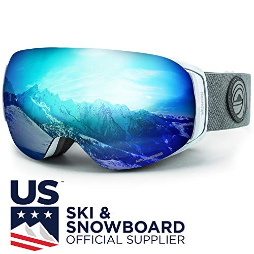 - WildHorn Outfitters Roca Ski Goggles & Snowboard Goggles- Premium Snow Goggles for Men, Women and Kids. Features Quick Change Magnetic Lens System with Integrated Clip Lock.