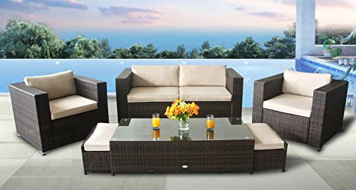 Stellahome Patio Furniture Sets 6pcs Outdoor Sectional