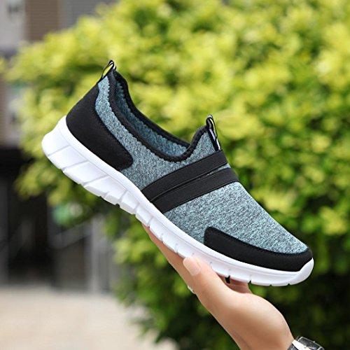 De Occasionnelles Soft Hommes Set Unisex Chaussures Shoes Sneakers Sport Fond Ronde Clair Tte Baskets Homebaby Lazy Mesh Bleu Femmes Pied 4xwEa64qP