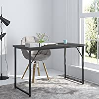 Elevens 47 Computer Desk Laptop Table Wood Writing Desk Large PC Study Table, Workstation for Home Office Furniture (Black)