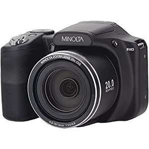 Minolta(r) Mn35z-Bk 20.0-Megapixel 1080p Full Hd Wi-Fi(r) Mn35z Bridge Camera With 35x Zoom (black)