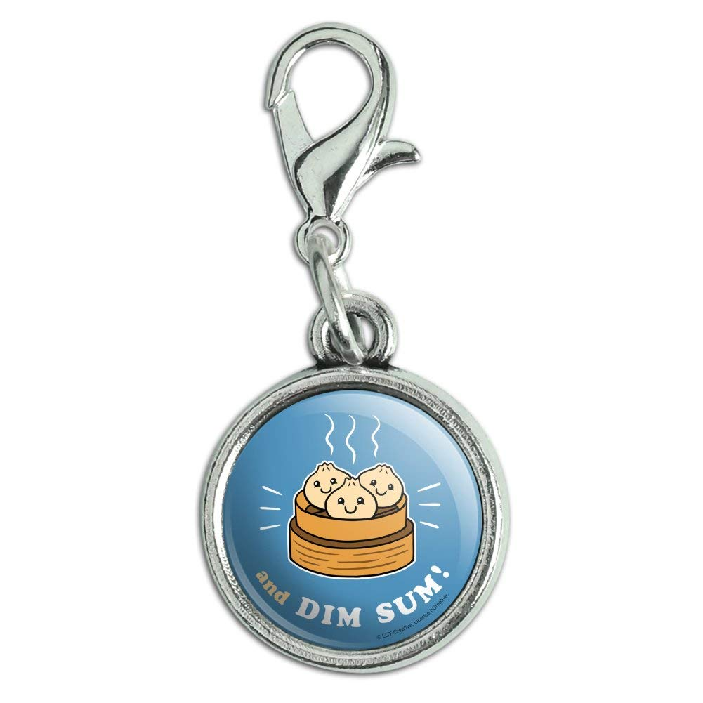 GRAPHICS /& MORE and Dim Sum Then Some Funny Humor Antiqued Bracelet Pendant Zipper Pull Charm with Lobster Clasp