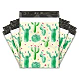 10x13 (100) Cactus Designer Poly Mailers Shipping Envelopes Premium Printed Bags