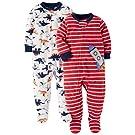 Carter's Baby Boys' Toddler 2-Pack Fleece Pajamas, Rocket/Dino, 2T
