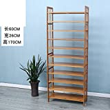 Wooden shoe rack multi-storey simple shoe rack household economical shoe cabinet storage assembly shoe rack modern simple dustproof rack-L