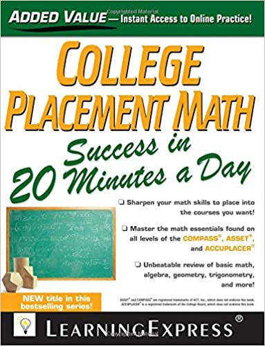 college placement math success in 20 minutes a day llc learningexpress
