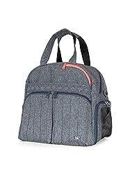 Lug Boxer Gym/Overnight Duffel Bag, Heather Black