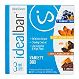 IdealBar, Meal Replacement Bars, Variety Box, w/ Hunger Blocker - 140 Calories, 7g Sugar, 10g Protein - 7 Bars offers